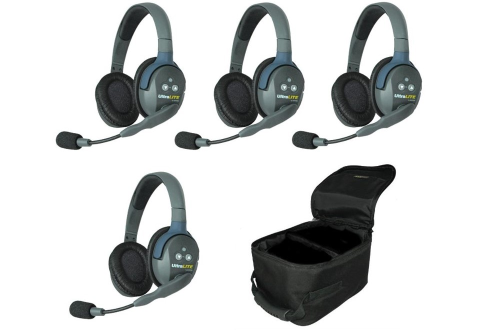 Walkies4Events - UltraLITE full duplex headsets - draadloze intercom headsets