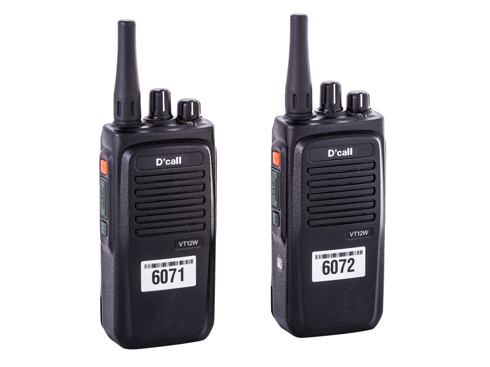 Walkies4Events - D'Call VT12W - SIM Trunk-walkietalkies in verhuur