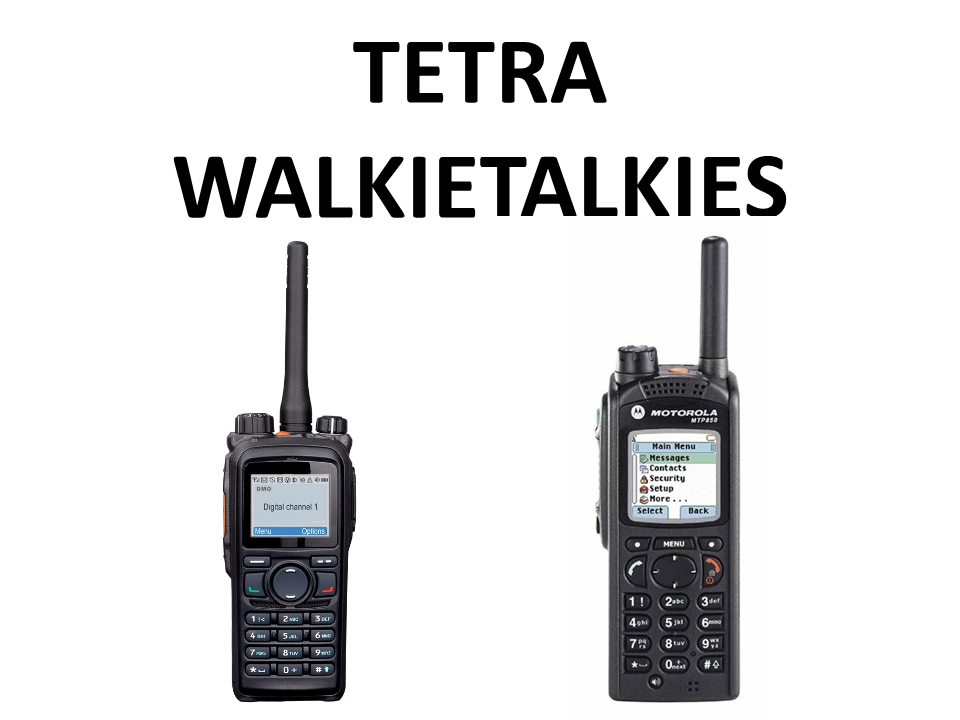 Walkies4Events - Verhuur - Offerte - Tetra-walkietalkies - Hytera PT580H - Motorola MTP850S