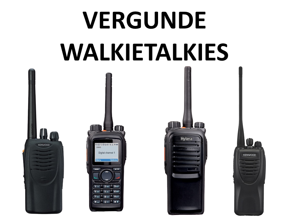 Walkies4Events - Verhuur - Offerte - Vergunde Walkietalkies - Kenwood TK-3302 en TK-3160 - Hytera PD705, PD705G, PD785 en PD785G