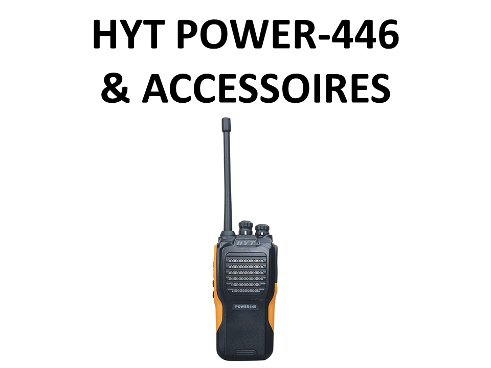 Walkies4Events - Verkoop - Offerte - Vergunningsvrije walkietalkies - HYT POWER446 - RA-H1 - RA-H2 - ACM-01 - ES-02 - SM13M1 - SM08M3 - BL2001