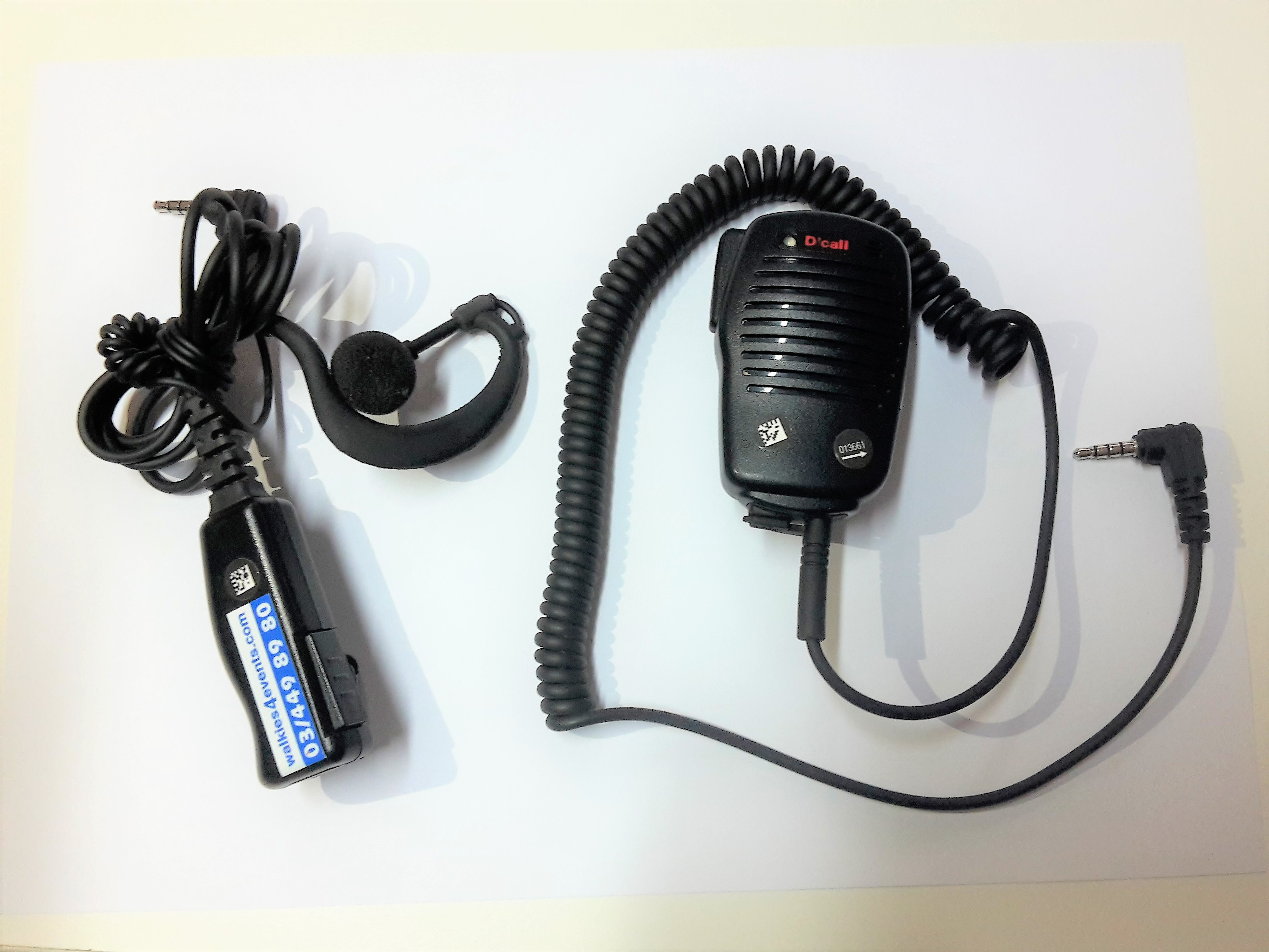 Walkies4Events - Accessoires SIM Trunk-walkietalkies: oortjes en microluidspreker