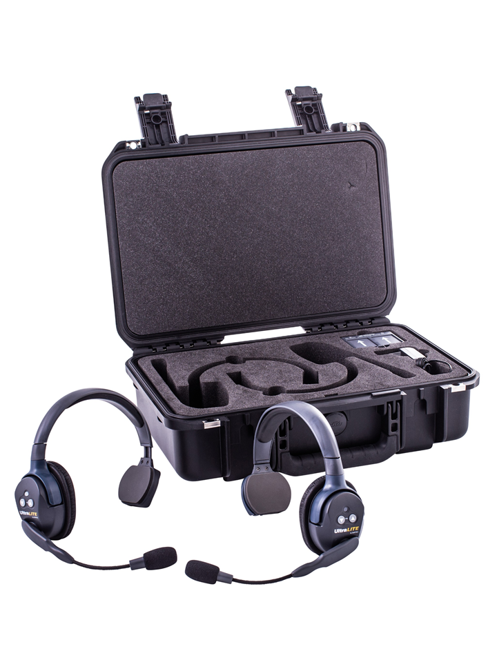 Walkies4Events - UltraLITE intercom-headsets inclusief koffer